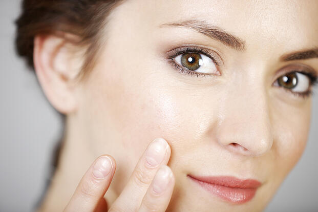 Woman with smooth and clear skin